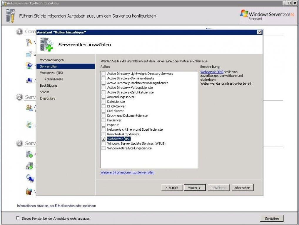 Webserver einrichten unter Windows Server - snafu