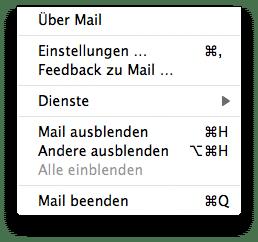 Mail Menü