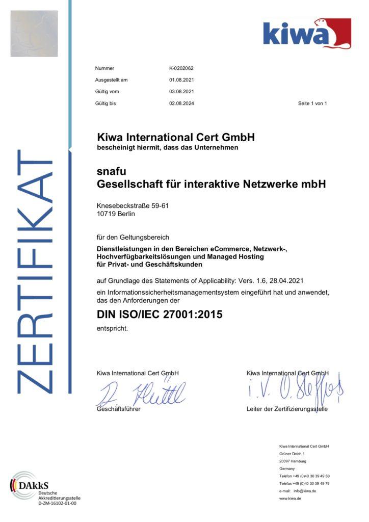 snafu_27001_Zertifikat_2021